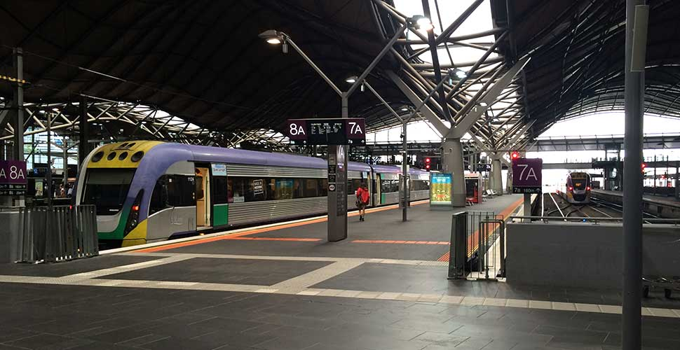 One of the V/Line VLocity trains at the centre of the current issues relating to rail travel in Victoria.