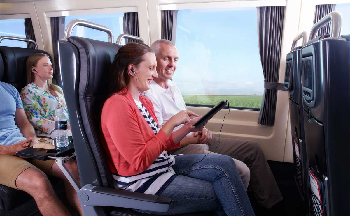 Premium Economy seats on the Spirit of Queensland train